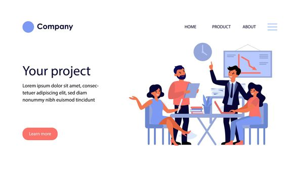 Business team discussing project [Converted]