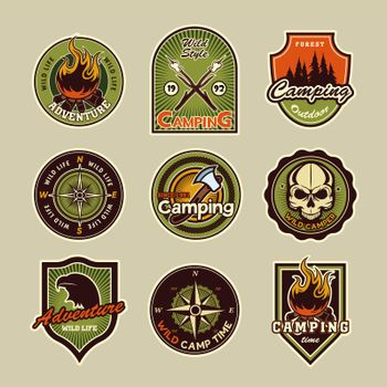 Camping patches set