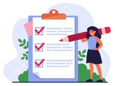 Checklist or survey concept
