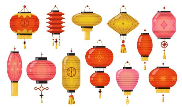 Chinese lamps set
