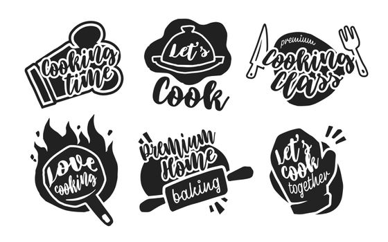 Different cooking calligraphy labels