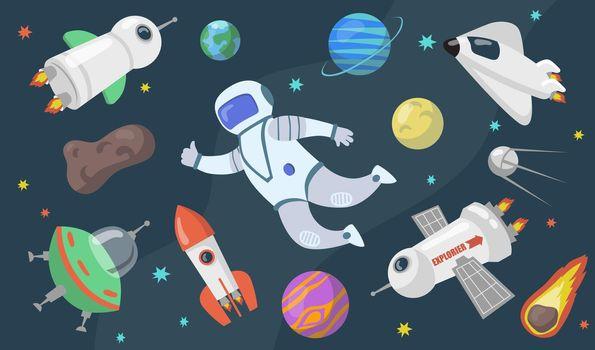Outer space exploration set