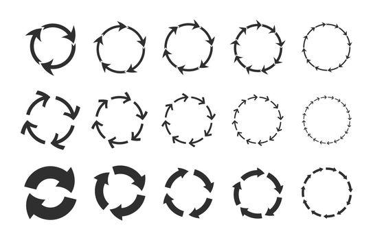 Recycling circular arrows set