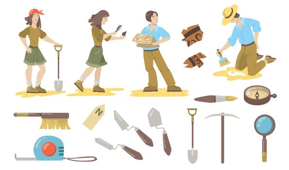 Archeological tools set