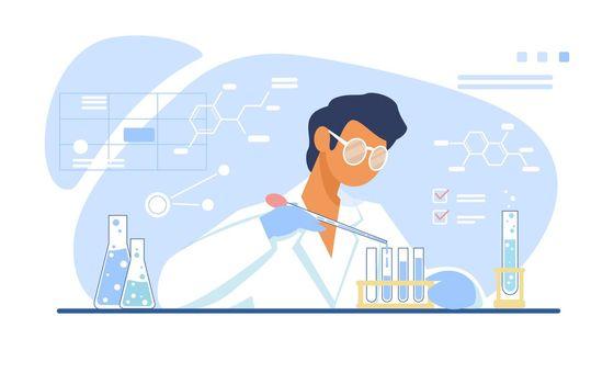 Chemist working in lab