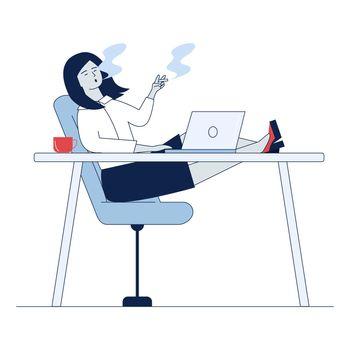 Employee smoking at workplace