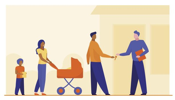 Family buying property