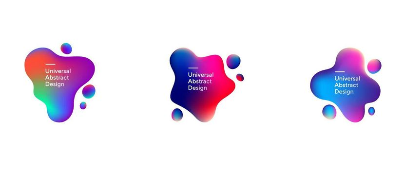 Abstract flowing liquid shapes collection