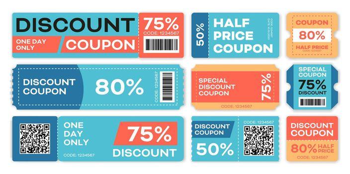 Special offers promo vouchers templates set