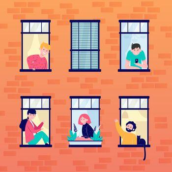 Apartment open windows and neighbors