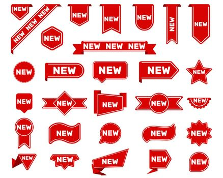 New arrival tags and stickers set