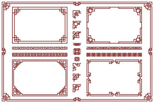 Oriental frames set