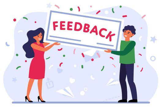 Positive customer evaluation