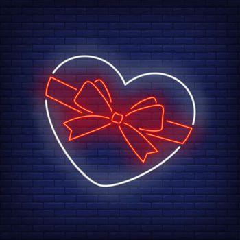 Heart shaped box neon sign