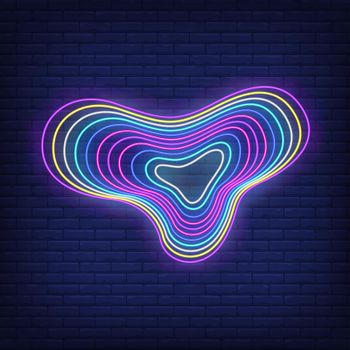 Multicolored flowing figure neon sign