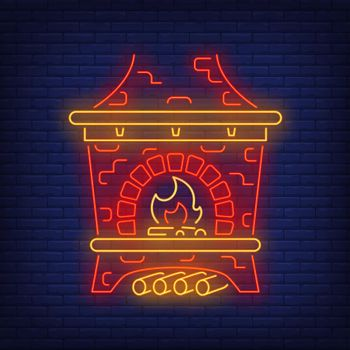 Red Russian stove neon sign