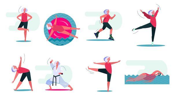 Fitness activities set