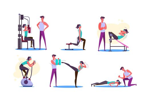 Set of couples exercising