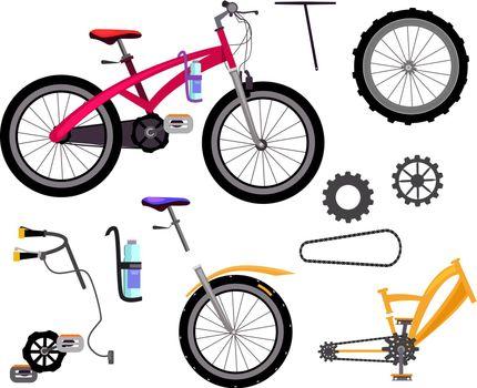 Bicycle icons set