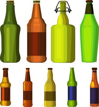 Beer bottles set
