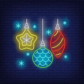 Baubles in neon style