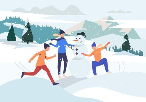 People making snowman webpage