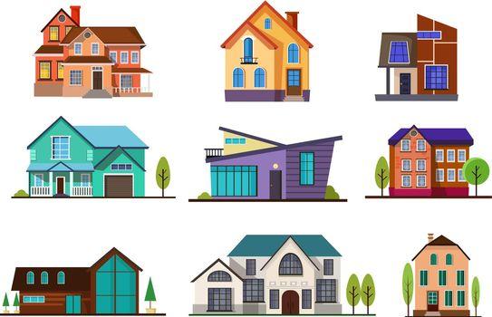 Modern cottage houses set
