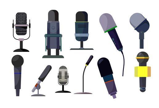 Professional microphones set