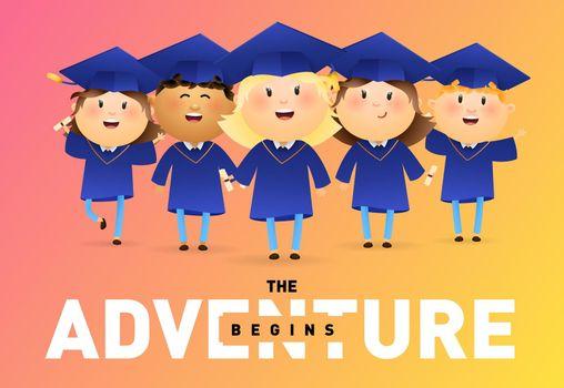 The adventure begins banner design