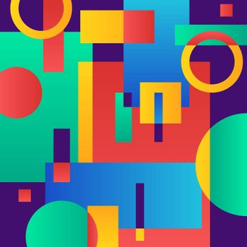 Abstract modern blue background with geometric objects