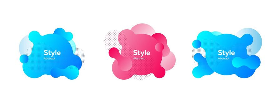 Set of creative abstract graphic elements