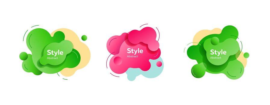 Vibrant dynamic fluid shapes