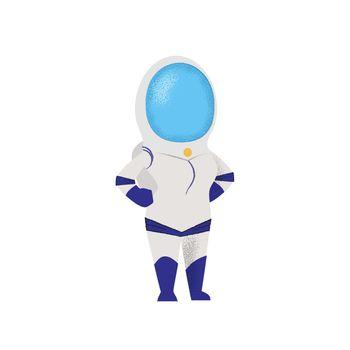 Confident female cosmonaut