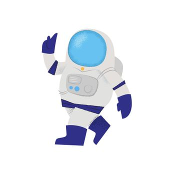 Confident walking astronaut