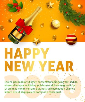 Happy New Year festive banner