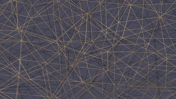 Lines pattern, abstract geometric texture on grey. Modern, contemporary lines design in gold and grey. illustration