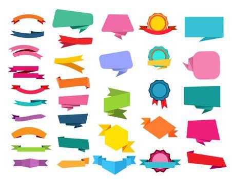 Cartoon ribbon set