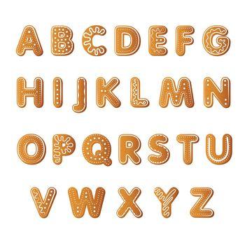 Ginger cookies alphabet