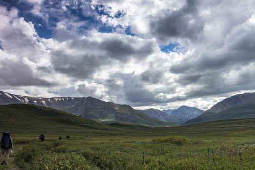 On the Oroy pass. Mountain Altai. Siberia. Russia