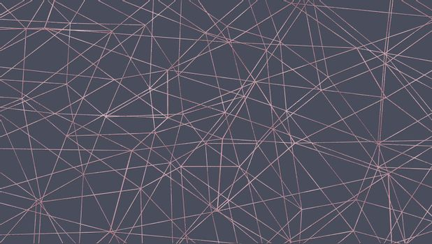 Abstract geometric design. Golden lines on grey background. Illustration