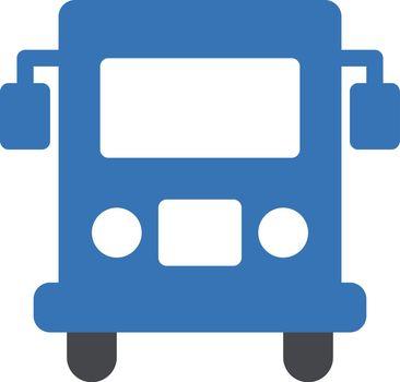 bus vector glyph colour icon