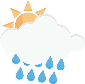 weather vector flat colour icon
