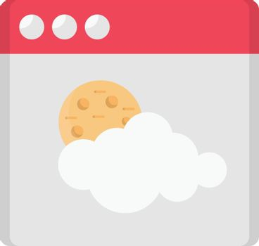 web page weather vector flat colour icon