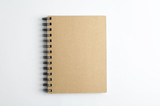 Office copybook on white background, space for text