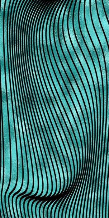 Abstract linear pattern, turquoise black background. Template for design backgrounds, package, textile, wrapper. Turquoise gold black background. Illustration