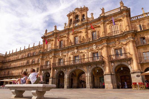Children at Plaza Mayor, Salamanca