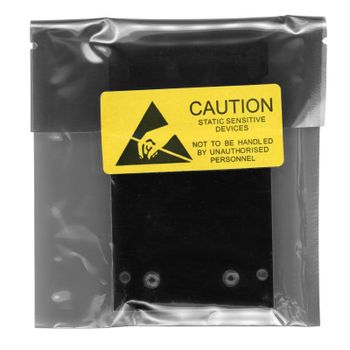 caution static sensitive devices packet over white