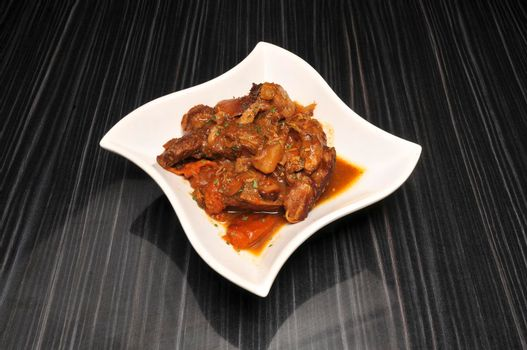 Traditional dish known as Caribbean Chicken Stew