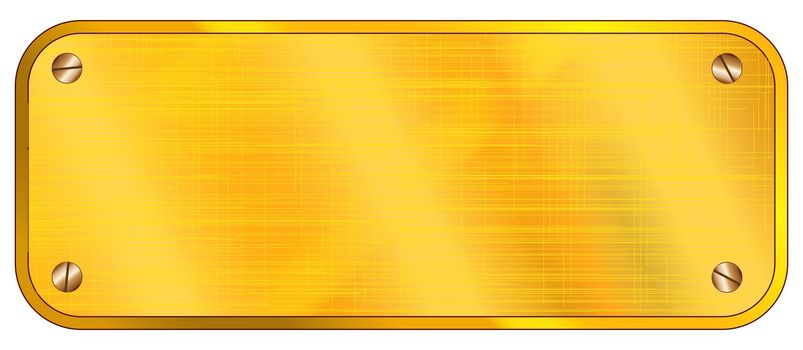 Blank Brass Plaque