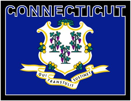Connecticut State Text Flag